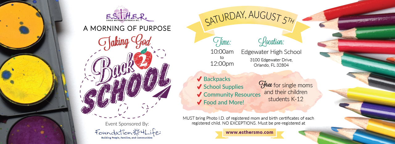 E S T H E R  Single Mothers Outreach | Back To School 2018