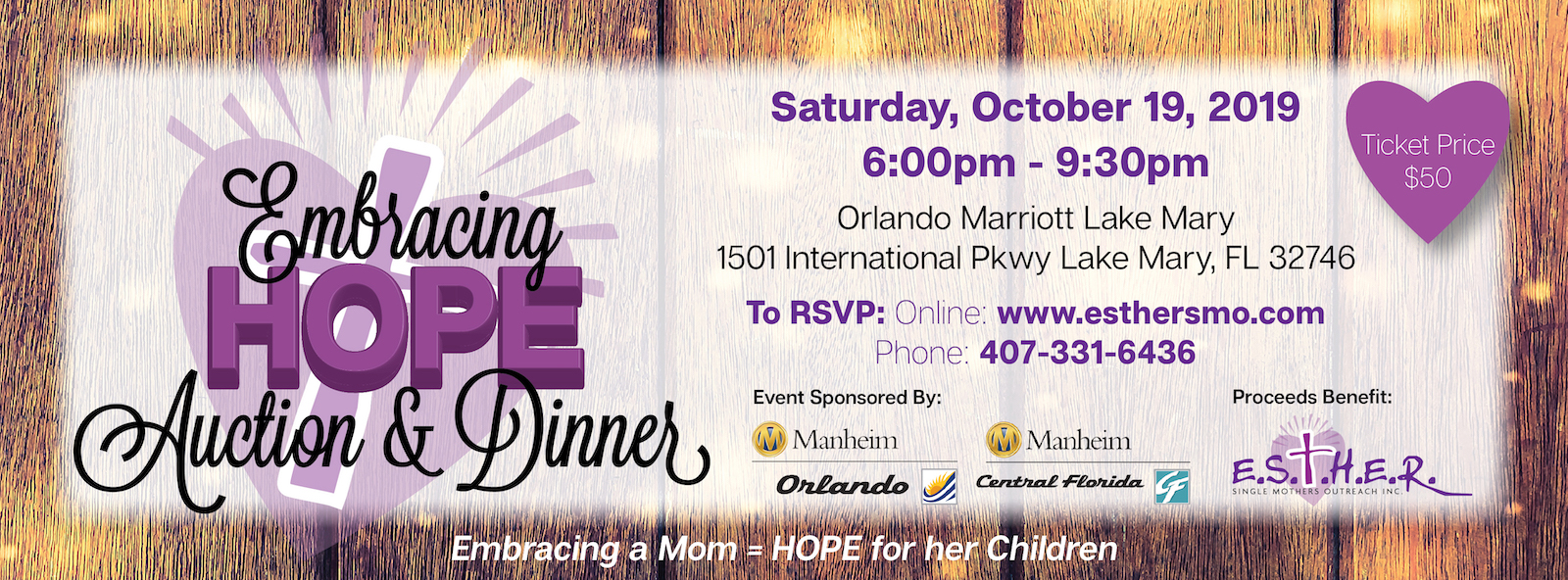 Embracing Hope Auction Dinner